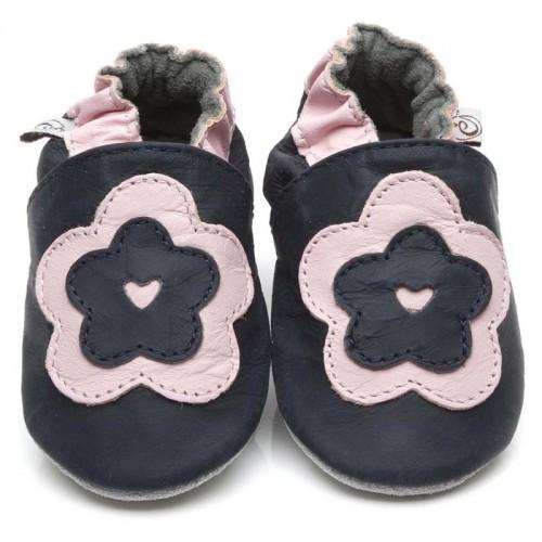 Black Big Flower Shoes