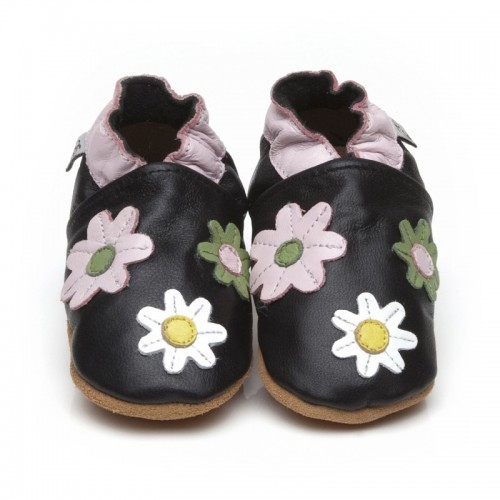Black Flower Shoes
