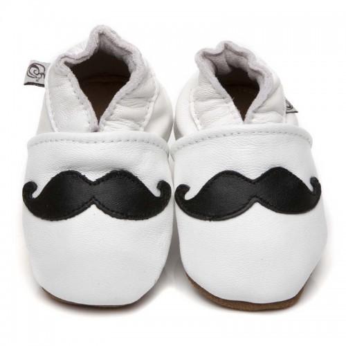 White Moustache Shoes