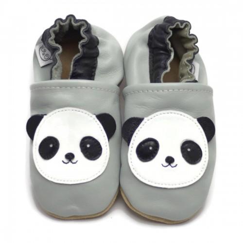 Grijze Slofjes met Panda