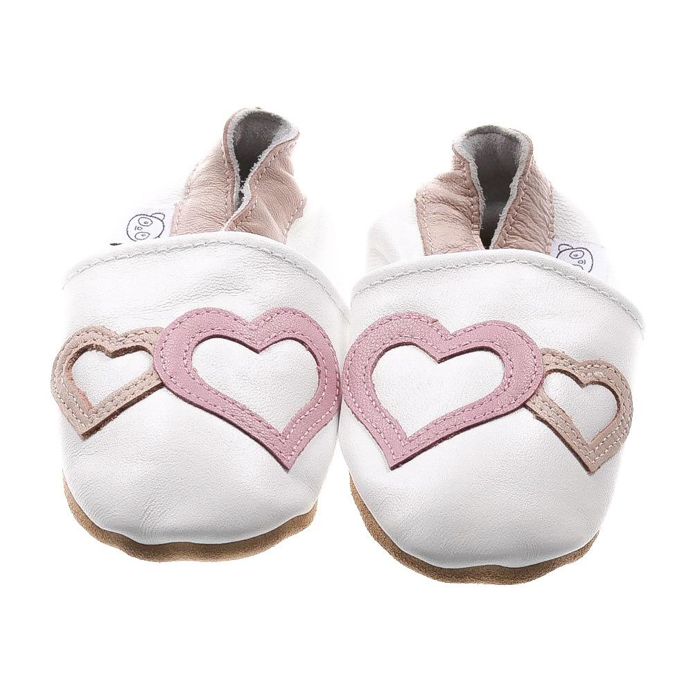 White Hearts Shoes — Panda Feet