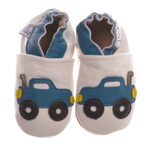 White Monster Truck Shoes