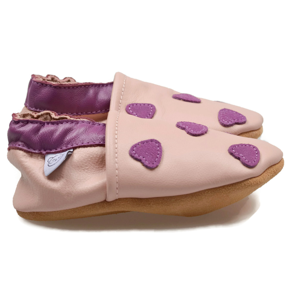 pink shoes with purple hearts panda