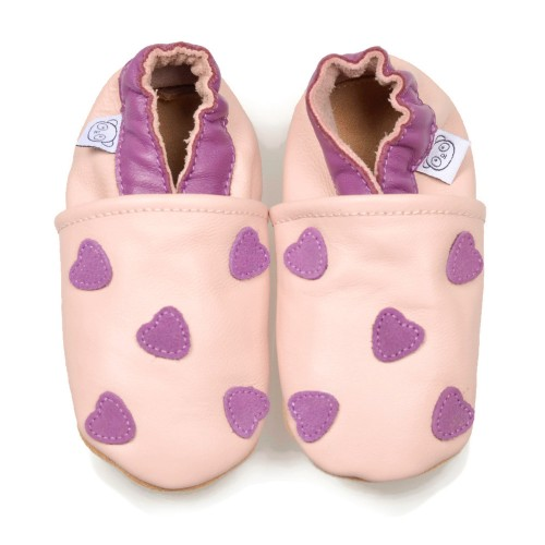 Pink Shoes With Purple Hearts