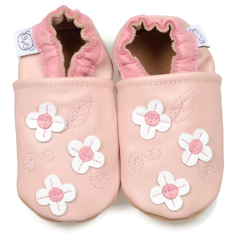 Pink Shoes With Small Flowers
